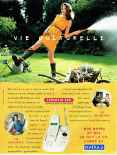 Publicité Advertising 028  1996  Matra téléphone répondeur Sensoria 400 sans fil