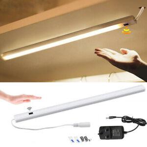 Hand Sensor LED Strip Bar Lights Under Cabinet Kitchen Cupboard Mains Plug DC12V