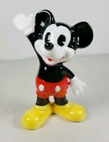MICKEY MOUSE Disney Figurine Wave Waving Japan Happy Vintage Cute EUC Red