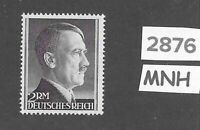MNH Adolph Hitler Third Reich stamp / 2RM / 1942-1944 / WWII Germany / Sc525