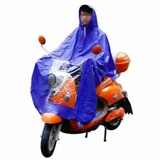 Waterproof Light Weight Rain Coat Mobility Scooter Hooded Cape Mac Poncho blue