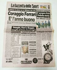 GAZZETTA DELLO SPORT 8 SETTEMBRE 1997 FRATELLI ABBAGNALE CAMPIONI DEL MONDO