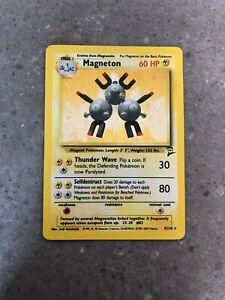 Pokemon TCG Cards Magneton 9/130 Base Set 2 Holo Rare PLAYED