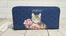 Cath Kidston Cat and Flowers Continental Zip Wallet Navy Colour New with Tag