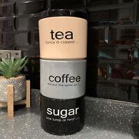 Stacking Ceramic Tea Coffee Sugar Jars Canisters Stackable Kitchen Storage Jars