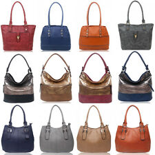 Women's Zipper Compartment Shoulder Handbags Light Weight Soft Multi Pockets Bag