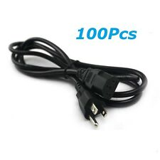 Lot of 100PCS  3 Prong 6ft Power Cord Cable for PC Monitoer Computer Printer