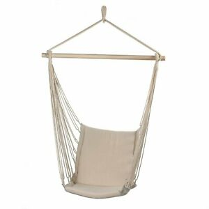 Relaxing Wooden Cotton Padded Gentle Rocking Swing Chair Garden Décor