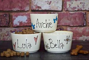Extra Small ceramic dog bowl hand painted chihuahua bowl Pomeranian bowl dish