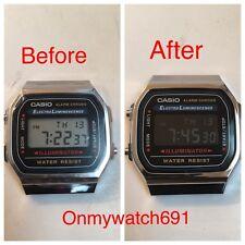 Polarized Film Casio A168 Watch Negative Display Modification (3 Pieces)