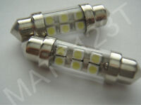 2 x 6 SMD 36mm LED White number plate interior roof festoon light bulb CW5