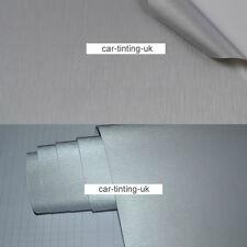 Silver Brushed Metal Aluminium Car Wrap Vinyl 1500mm x 300mm Sheet