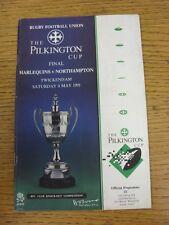 Programa de Unión de Rugby 04/05/1991: Pilkington] [Anglo-Welsh Cup Final-Arlequín