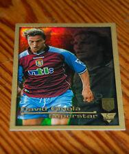 Merlin '01 FA Prem, Aston Villa  'SuperRare' Ultrafoil David Ginola - MINT Cond.