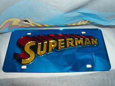 Superman License Plate Blue/Red/Yellow Brand NEW!!