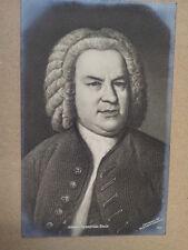 antique post card J.S. BACH Breitkopf Haertel 637