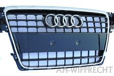NEU Original Audi A4 S4 B8 S-Line Kühlergrill Tuning Grill Chrom Klavier Schwarz