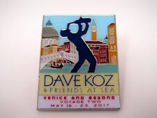 Collectible Pin: 2017 Dave Koz & Friends At Sea Venice and Beyond Music Tour