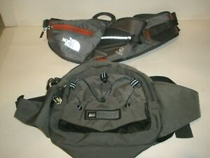 REI LUMBAR PACK BACKPACK & THE NORTH FACE WATER BOTTLE WAIST PACK