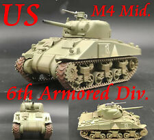 Easy Model 1/72 U.S Army M4 Sherman Middle Tank Model 6th Armored Div. #36251