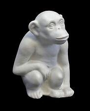 Figurine Porcellana Scimmia bianca Bisquit Wagner & Apel H7cm 9942074