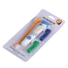 Pet Dog Toothpaste Chicken Flavour + Puppy Toothbrush +Back Up Brush Set New