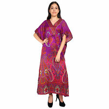 Paisley Pattern Long Women's Kaftan Night wear Dress Maxi For Ladies