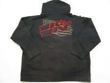 K&N Men's Front Zipper Hoodie Black Size Large