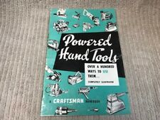 VINTAGE CRAFTSMAN POWERED HAND TOOLS HANDBOOK FROM 1959 Free Shipping!!