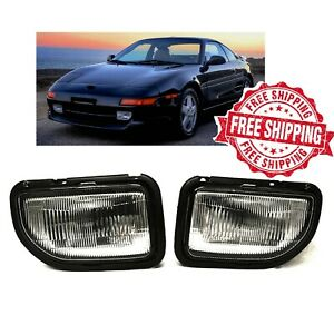 For 1991 1995 Toyota MR2 Fog Lights Clear With Bulbs Wiring Harness Switch Kit