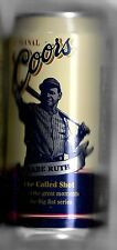 1998 Coors Beer Babe Ruth New York Yankees Bottom Opened Can