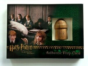 """Harry Potter Sorcerer's Stone Prop CARD CASE INVENTIVE WAND """"END OF HANDLE!!!"""""""