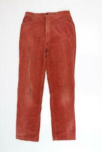 the panthers Mens Red Striped Corduroy Straight Jeans Size 30 L30 in