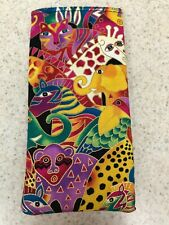 Sunglass / Eyeglass Soft Fabric Case - Laurel Burch - Mythical Jungle - Bright!
