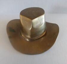 """6"""" Brass Western Cowboy Hat Decor Paperweight"""