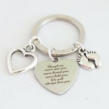"""Though we never saw you. We will always love you"". Miscarriage Baby loss alloy"