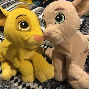 Simba And Nala Kissing Magnetic Plush 2004 Hasbro Lion King