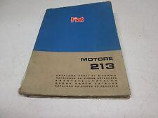 Catalogo parti di Ricambio originale motore Fiat 213 C40n, C50n 1966.  [6094.16]