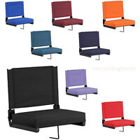 Stadium Arena Bleacher Thick Seat Cushion Chair Portable Folding Backrest 8color
