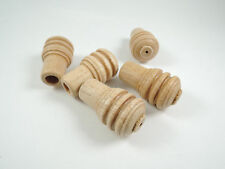 5 X SOLID WOOD ACORN CORD PULL HANDLE - Wooden Blind Bathroom Light Switch