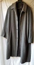 Hugo Boss Saks Fifth Avenue Men's Wool Coat Hooded Jacket Gray Size 46L