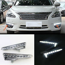 LED DRL Daytime running light LED turn Signal For NISSAN TEANA ALTIMA L33 13-15