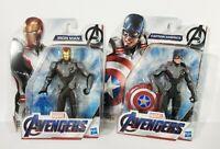 Marvel Avengers Endgame Captain America & Iron Man Action Figures Bundle NEW