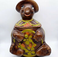 "Vintage 1960s McCoy USA Pottery Retro Turtle Lidded Cookie Jar #2635 12""H 8.5""W"