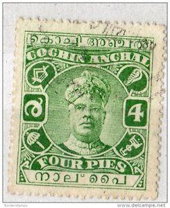 India Cochin 1919 KGV 4p MH SGO10