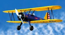 Alien Aircraft Stearman PT17 PT-17 Balsa Wood RC Remote Control Airplane Kit