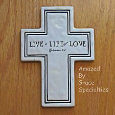 """Wall Cross, """"LIVE a LIFE of LOVE!"""" - Easy to hang! Hardware included!"""