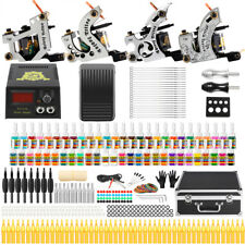 Solong Tattoo Complete Tattoo Kit 4 Pro Machine 54 Inks Set Carry Case Box TK459