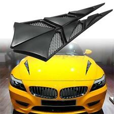 Pair ABS Auto Car Hood Side Air Intake Flow Vent Cover Decorative Sticker Black