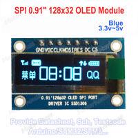 "SPI 0.91"" inch 128*32 Blue OLED LCD Display Module DC 3.3v 5vScreen For Arduino"